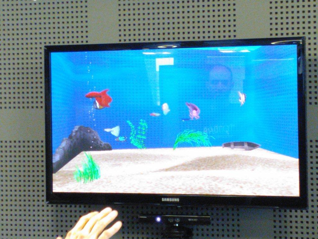 Aquarium with Kinect